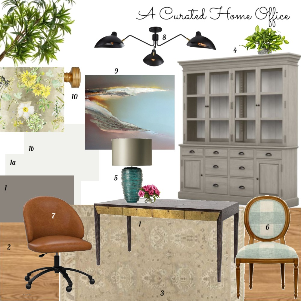 TIDI Home Office Interior Design Mood Board by dorothy on Style Sourcebook