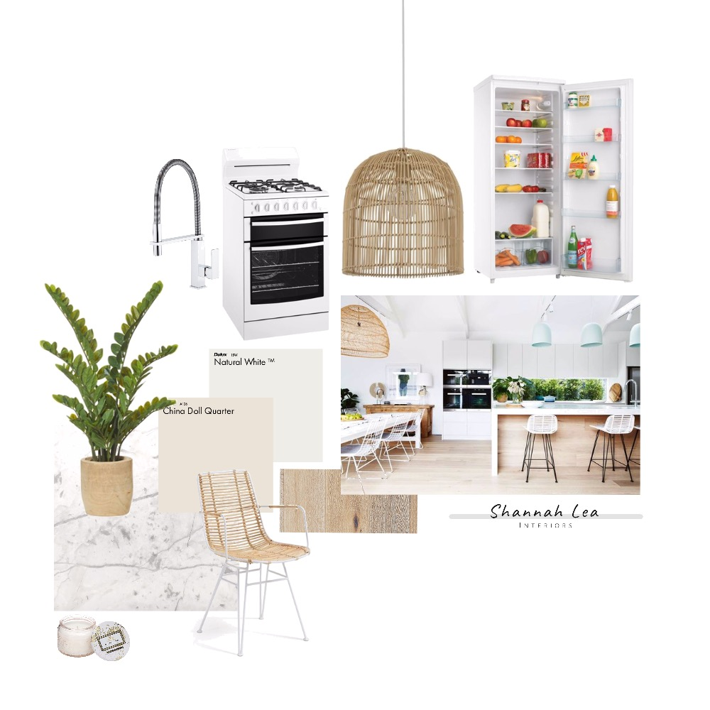 Coastal Kitchen Interior Design Mood Board by Shannah Lea Interiors on Style Sourcebook