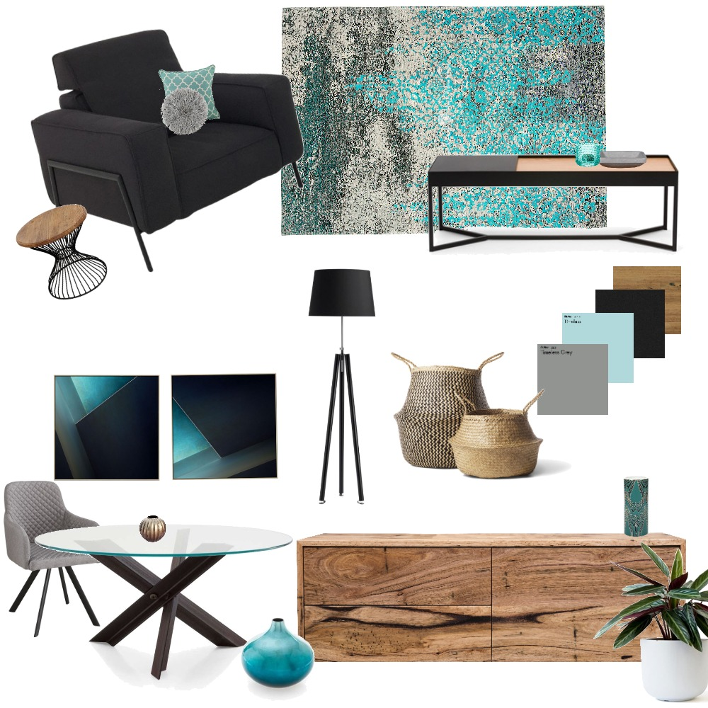 blue wood black Interior Design Mood Board by iritziv1977 on Style Sourcebook