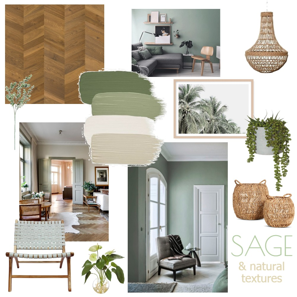 Sage and Natural textures Interior Design Mood Board by Taylah O'Brien on Style Sourcebook