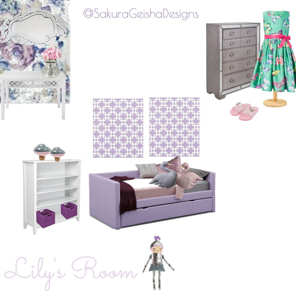 Lily's Room Interior Design Mood Board by G3ishadesign on Style Sourcebook