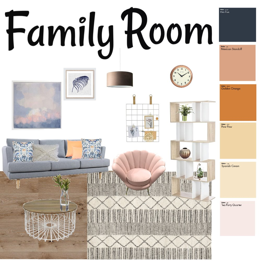 Family Room 1 Interior Design Mood Board by SarahElsey on Style Sourcebook