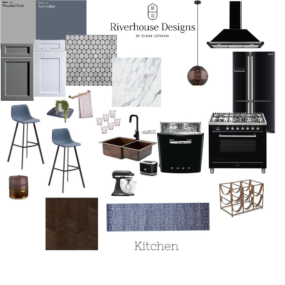 IDI ASS 9 Kitchen Interior Design Mood Board by riverhousedesigns on Style Sourcebook