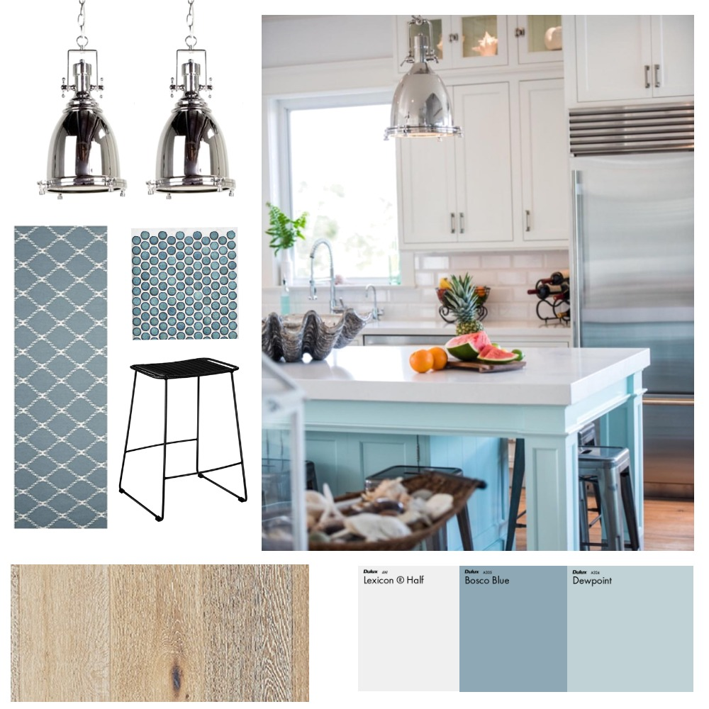 Kitchen Inspo - Blue Island Interior Design Mood Board by CoastalHomePaige on Style Sourcebook