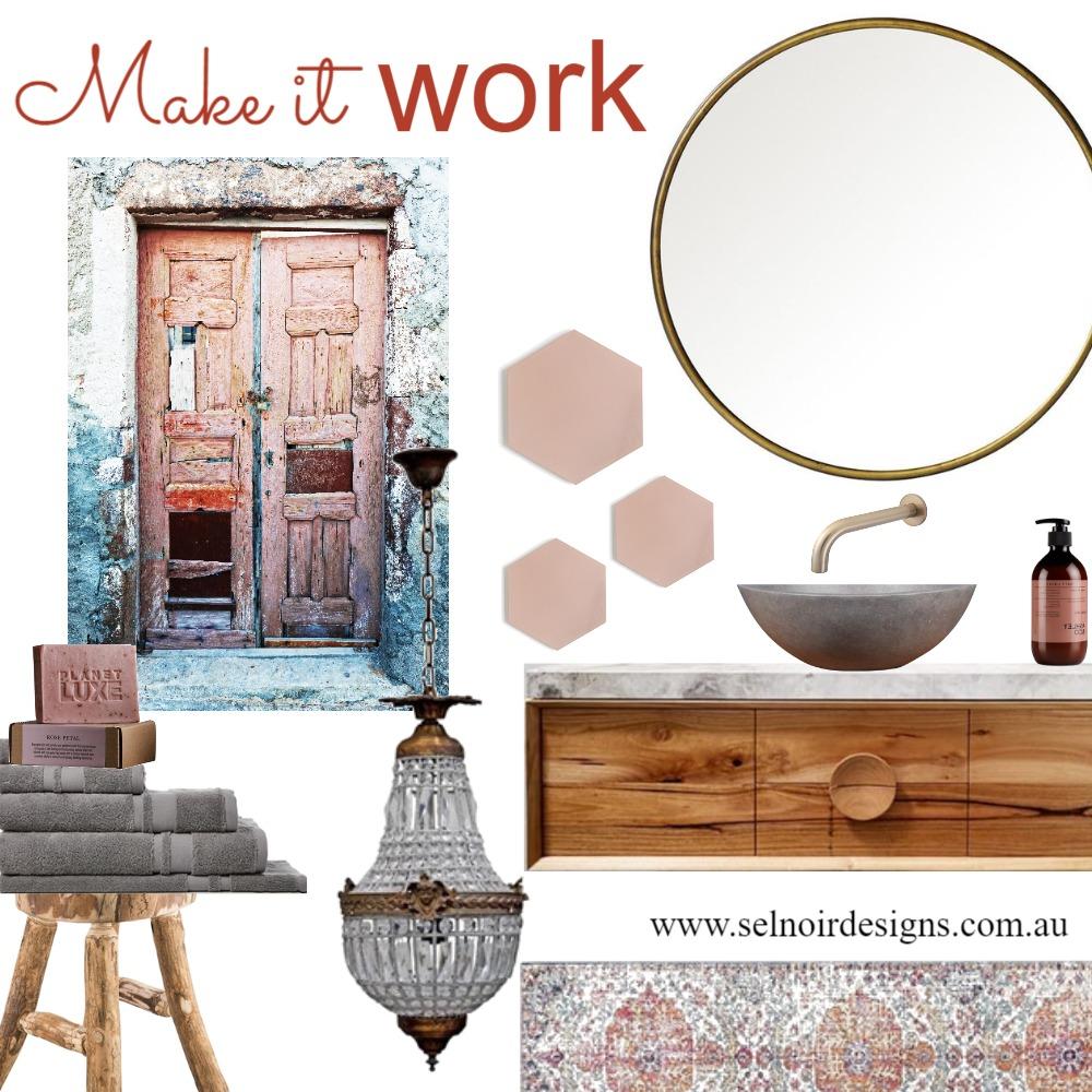 Rustic romantic ensuite Interior Design Mood Board by Sel Noir Designs  on Style Sourcebook