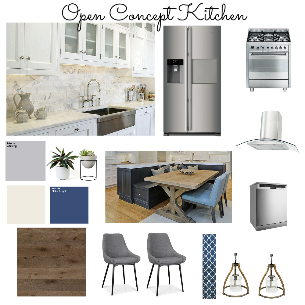 Open Concept Kitchen Interior Design Mood Board by JanaRaven on Style Sourcebook