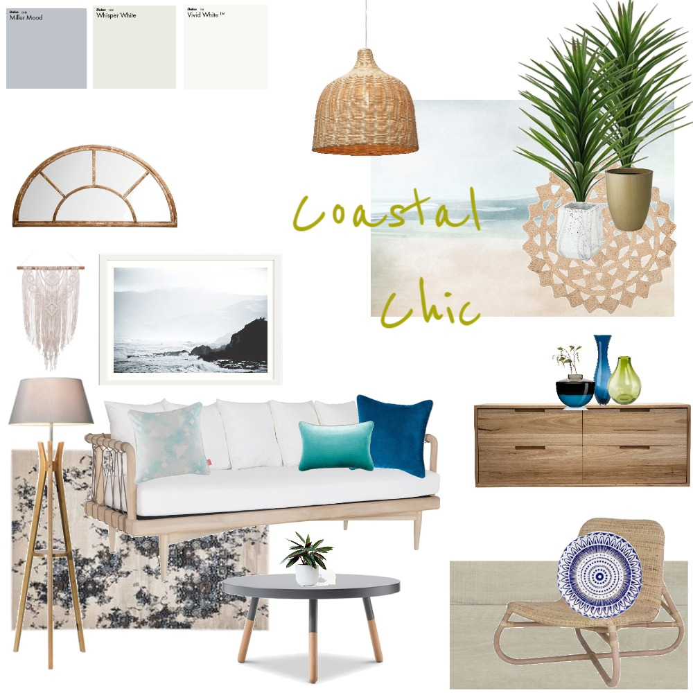 Coastal chic Interior Design Mood Board by JoannaLee on Style Sourcebook