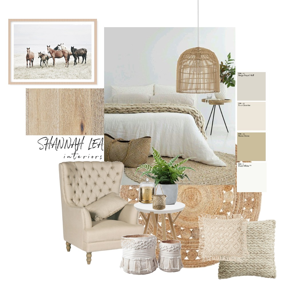 Rustic/Coastal Bedroom Interior Design Mood Board by Shannah Lea Interiors on Style Sourcebook