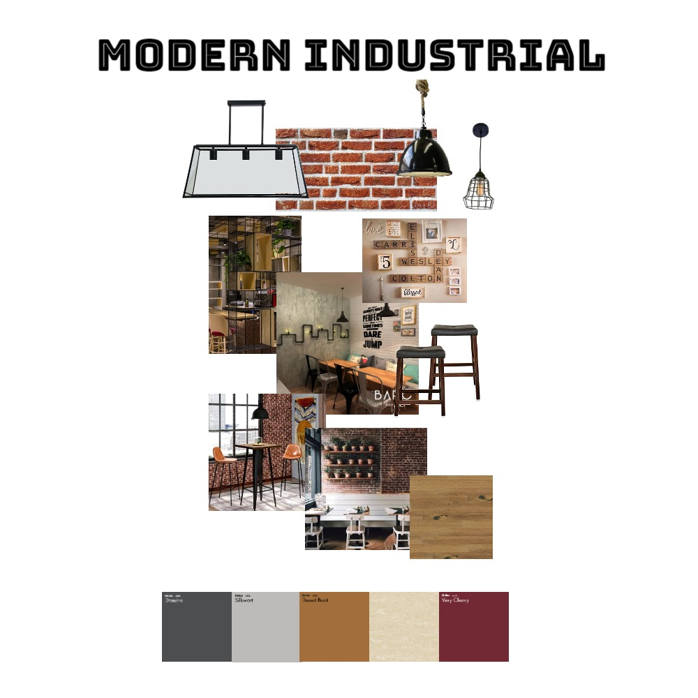 Modern Industrial Cafe Interior Design Mood Board by itsmelliza on Style Sourcebook