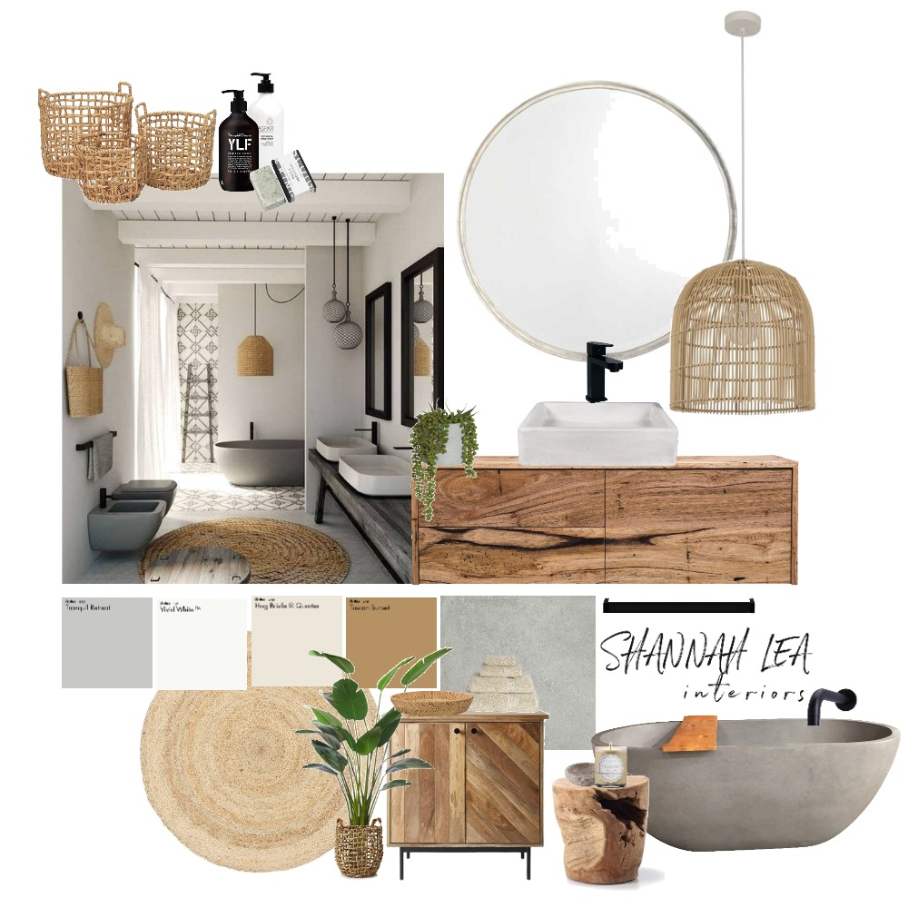 Coastal Bathroom Interior Design Mood Board by Shannah Lea Interiors on Style Sourcebook