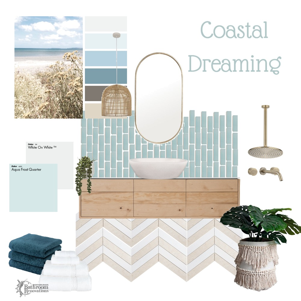 Coastal Dreaming - Bathroom Interior Design Mood Board by Northern Rivers Bathroom Renovations on Style Sourcebook