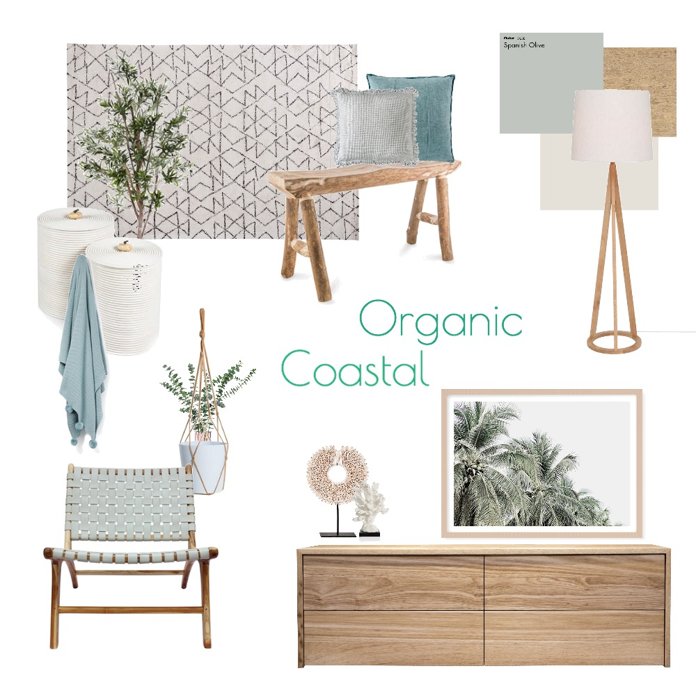 Organic Coastal Interior Design Mood Board by BecStanley on Style Sourcebook