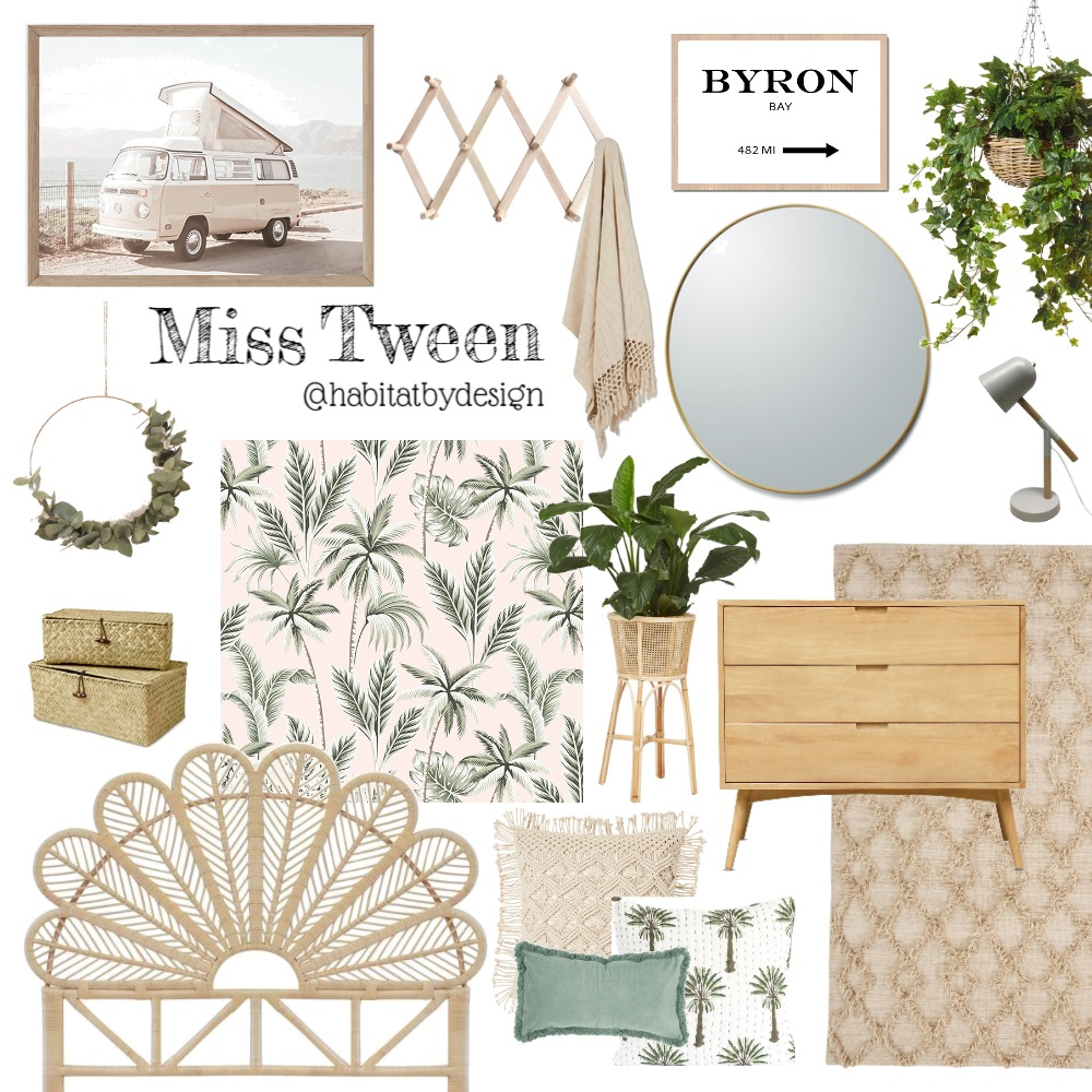 Miss Tween Interior Design Mood Board by Habitat_by_Design on Style Sourcebook