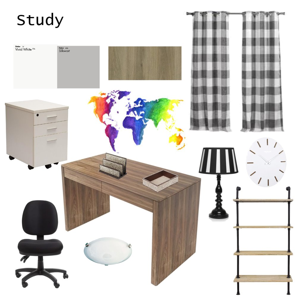Study Interior Design Mood Board by jessicachapeton on Style Sourcebook