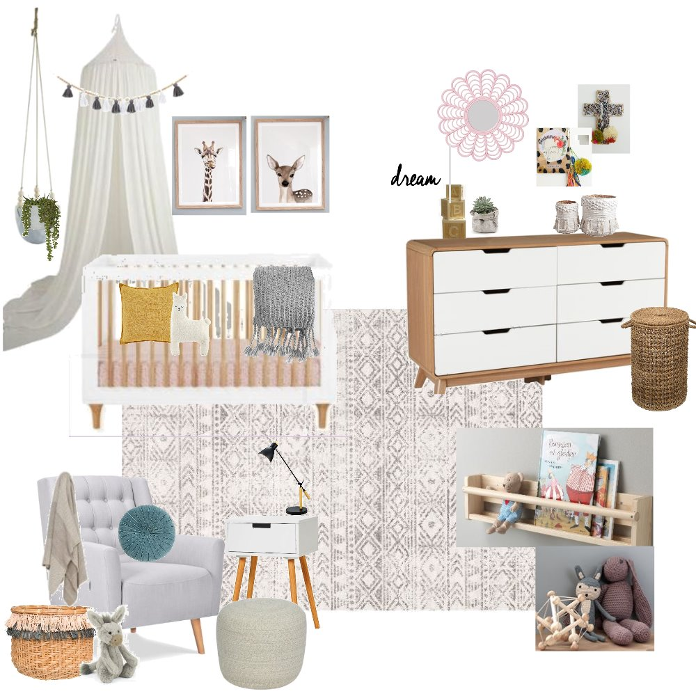 Baby M - Nursery Inspo: Neutral Interior Design Mood Board by BrookeKL89 on Style Sourcebook