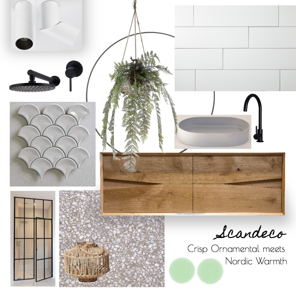 Scandeco Bathroom Interior Design Mood Board by Jozzamezz on Style Sourcebook
