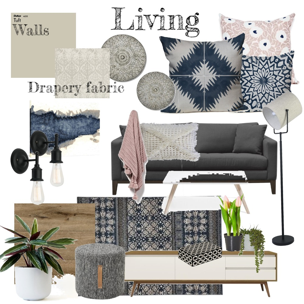 Living Room Interior Design Mood Board by mynaturaldesign on Style Sourcebook