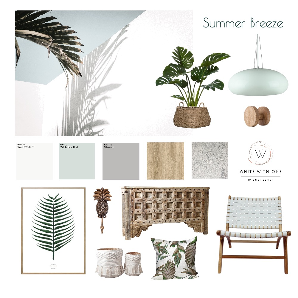 Summer Breeze Interior Design Mood Board by White With One Interior Design on Style Sourcebook