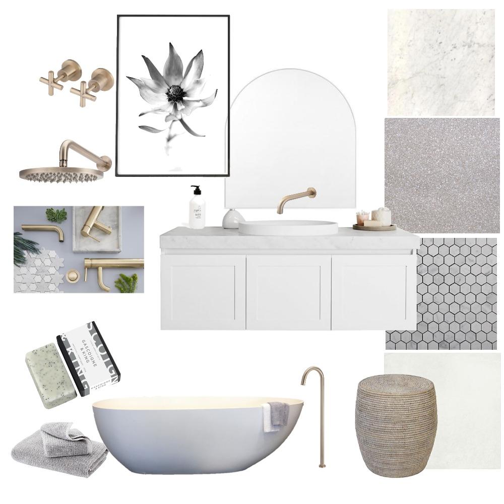 Hamptons Luxe Bathroom Interior Design Mood Board by Lupton Interior Design on Style Sourcebook