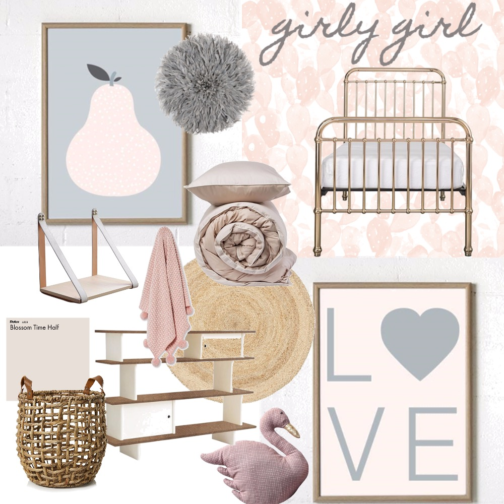 Girly Girl Interior Design Mood Board by ClaireT on Style Sourcebook