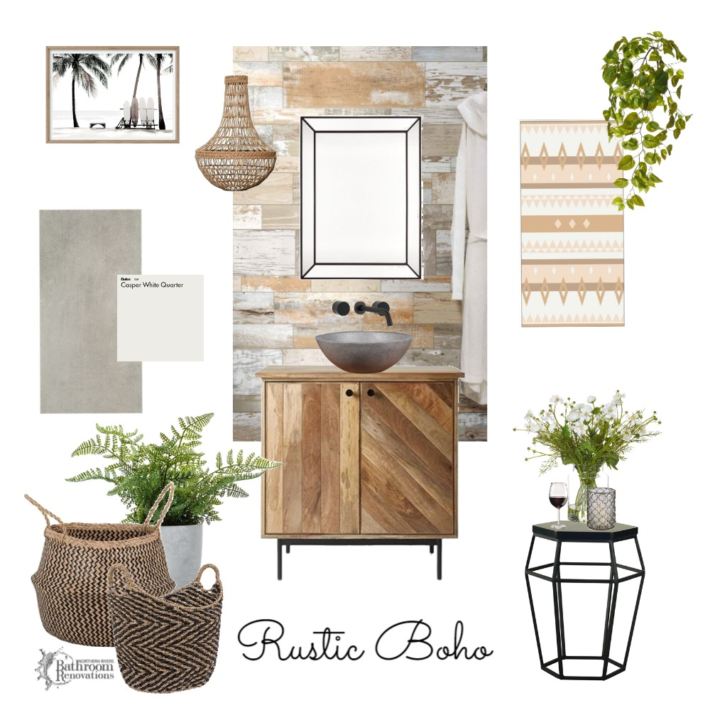 Rustic Boho - Bathroom Interior Design Mood Board by Northern Rivers Bathroom Renovations on Style Sourcebook