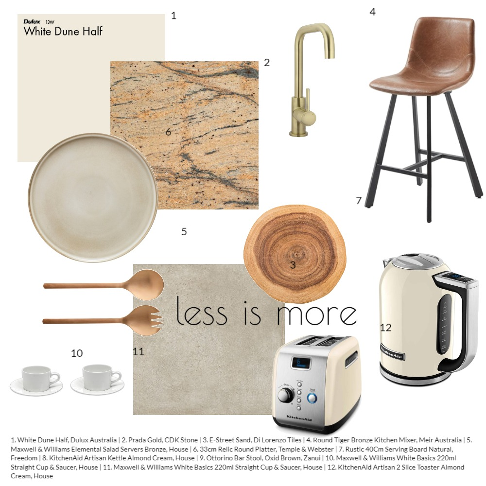 Less is more in the kitchen Interior Design Mood Board by tiffinandtable on Style Sourcebook