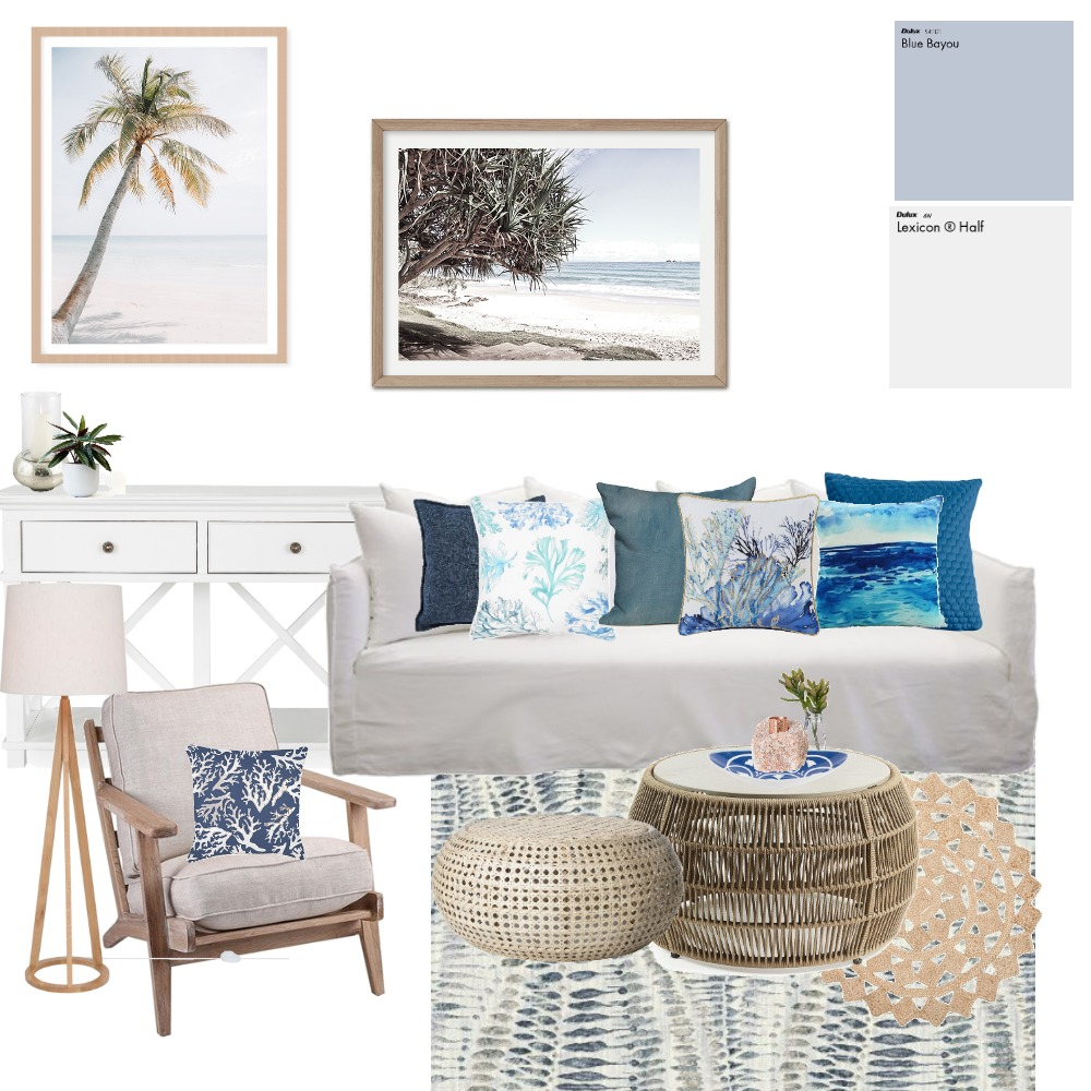 Oceania Living Room Interior Design Mood Board by Lupton Interior Design on Style Sourcebook