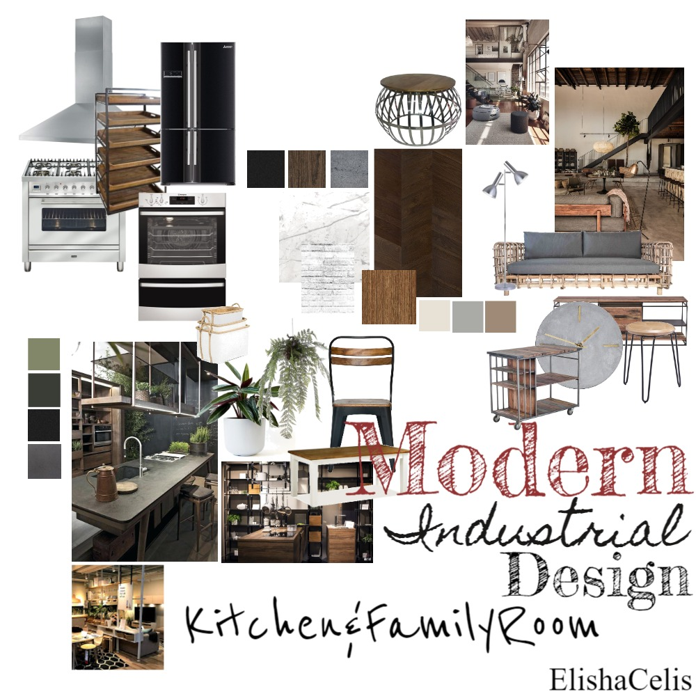 Modern Industrial Kitchen Design Interior Design Mood Board by ElishaCelis on Style Sourcebook