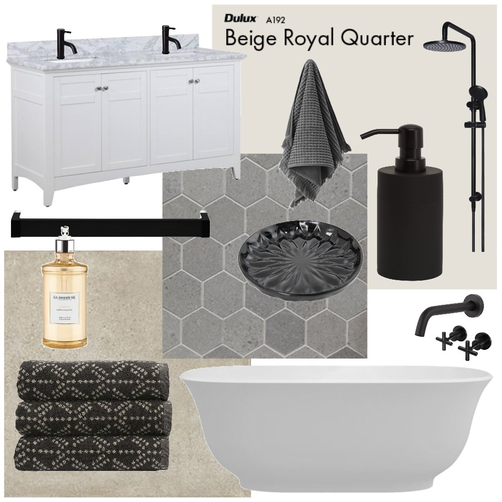 Modern Country Bathroom Interior Design Mood Board by Lorin on Style Sourcebook