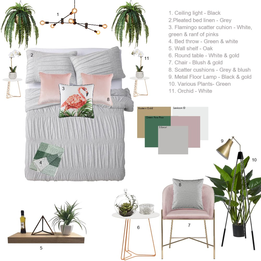 Bedroom Interior Design Mood Board by Jolene on Style Sourcebook