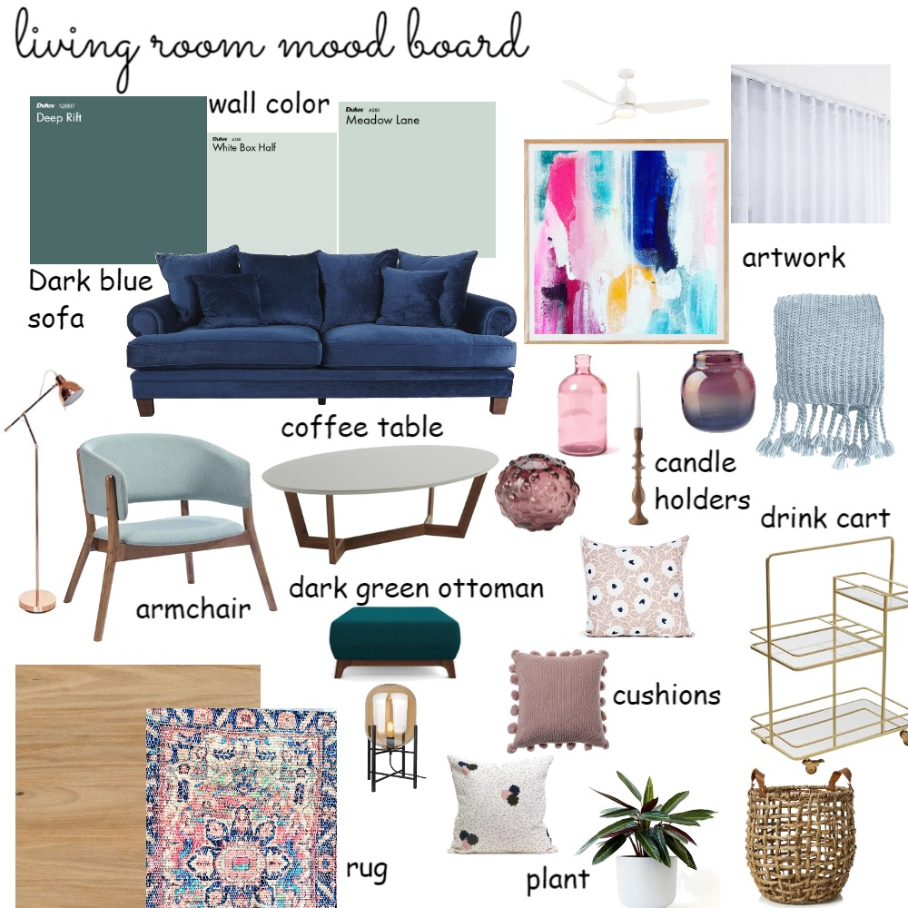 living room moodboard Interior Design Mood Board by kleoniki on Style Sourcebook
