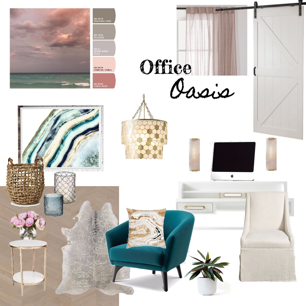 Office Oasis Interior Design Mood Board by WhiskeyCreekDesign on Style Sourcebook