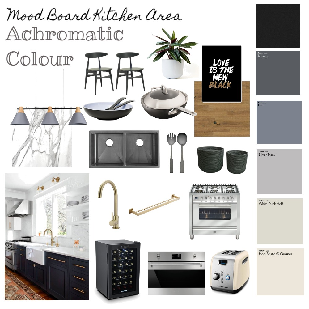 Achromatic Colors Interior Design Mood Board by ditaduck14 on Style Sourcebook