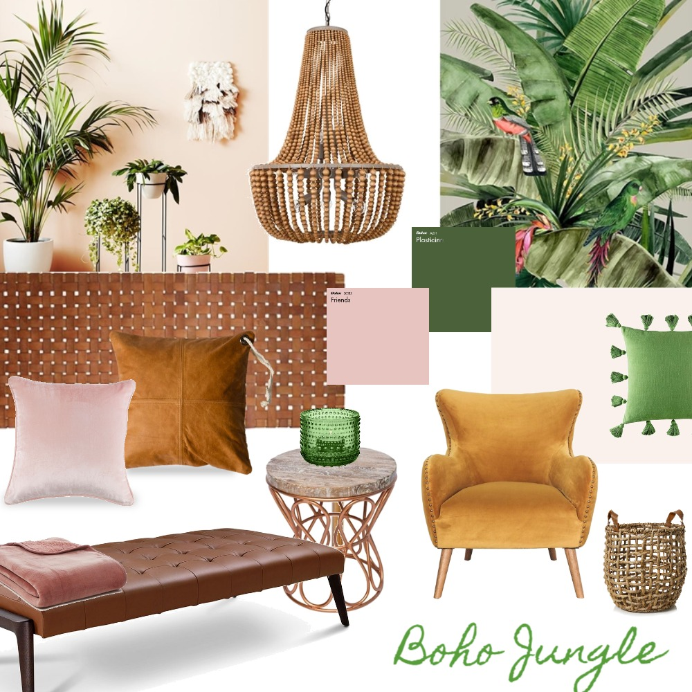 Boho Jungle Interior Design Mood Board by karla-jane on Style Sourcebook