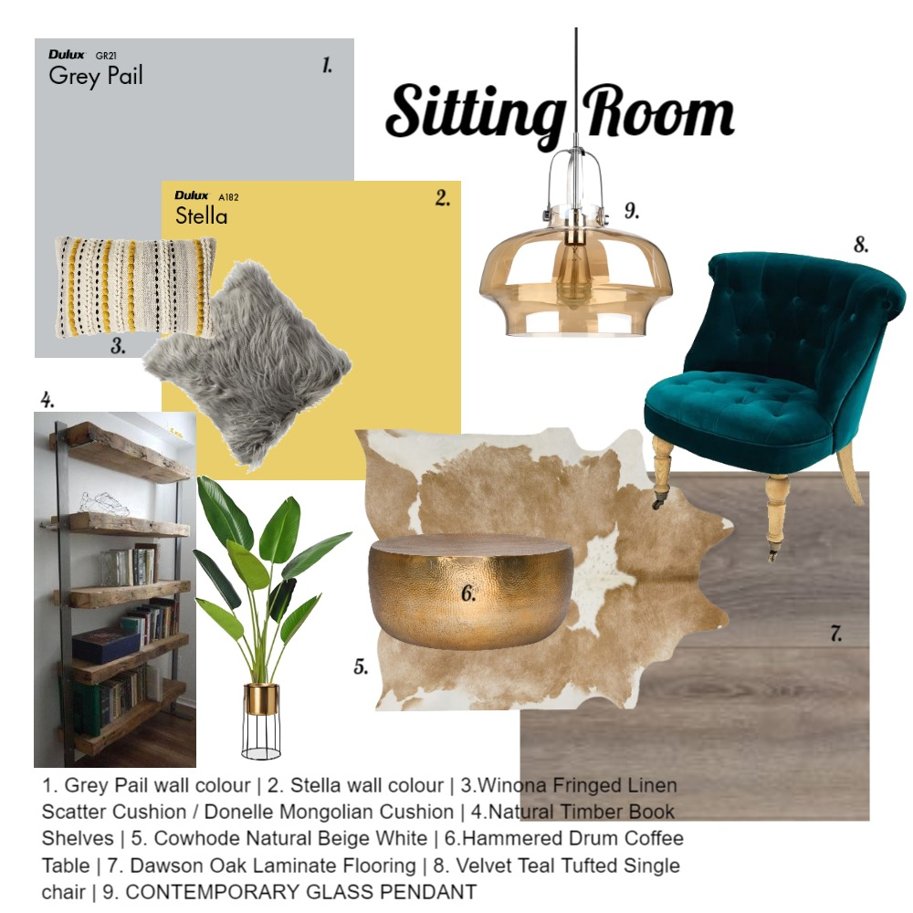 Sitting Room Interior Design Mood Board by KerriJean on Style Sourcebook