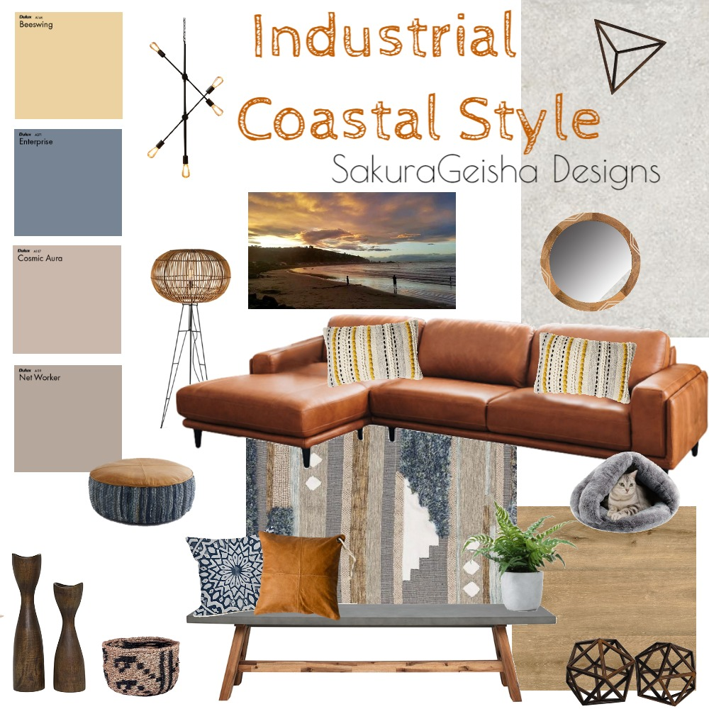Industrial Coastal Vibes Interior Design Mood Board by G3ishadesign on Style Sourcebook