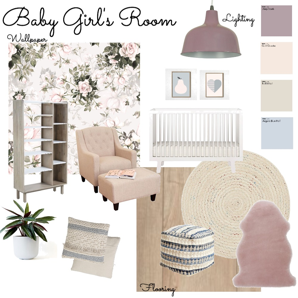 Sweet Baby Jane's Room Interior Design Mood Board by AlainaPhillippi on Style Sourcebook