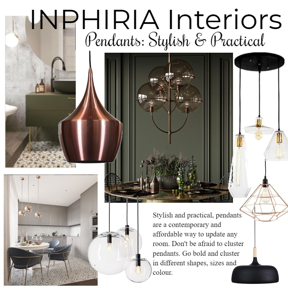 Pendants: Stylish & Practical Interior Design Mood Board by inphiriainteriors on Style Sourcebook