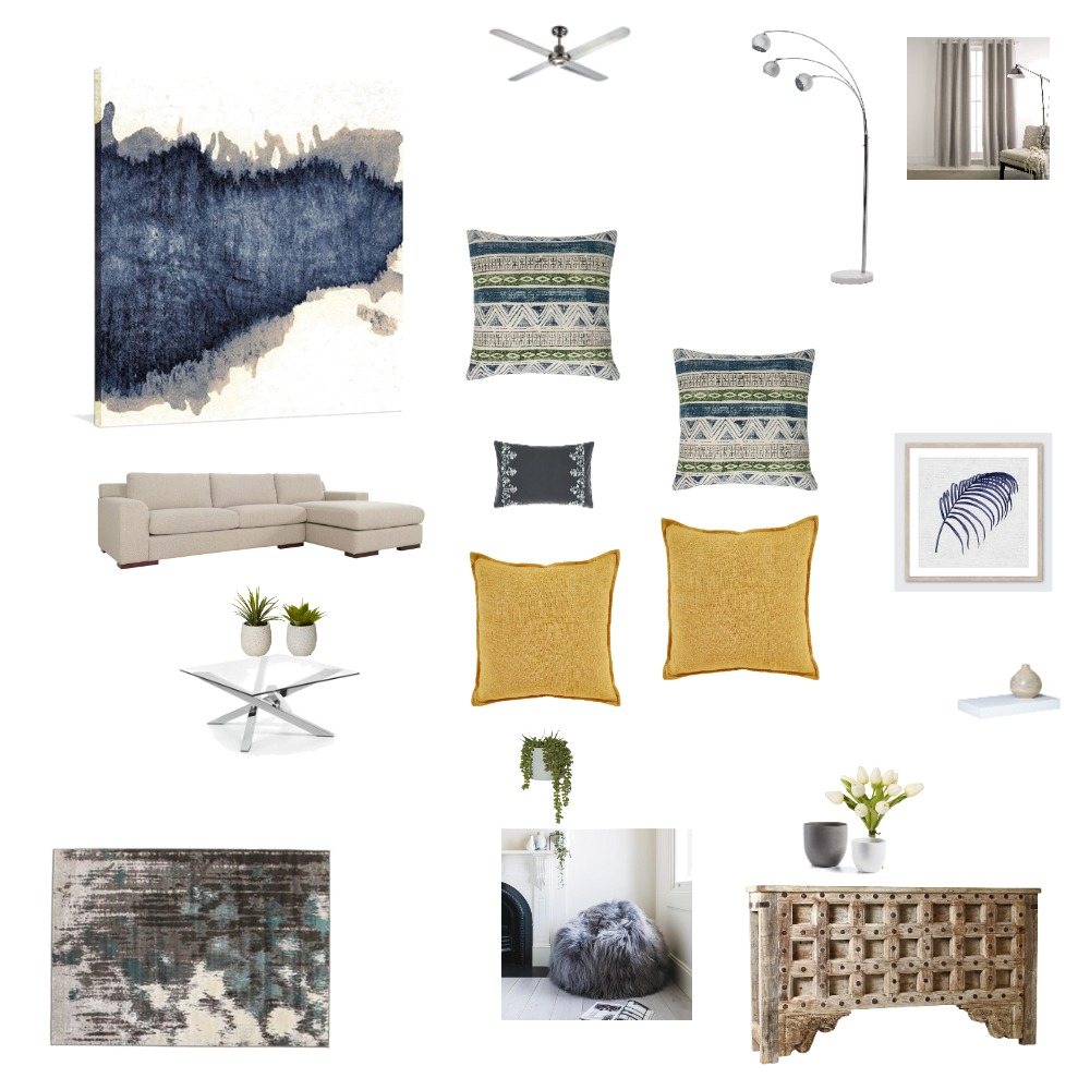 Assignment # 9 - Presenting Ideas  - Living Room / Design Board Interior Design Mood Board by Infinity Design on Style Sourcebook