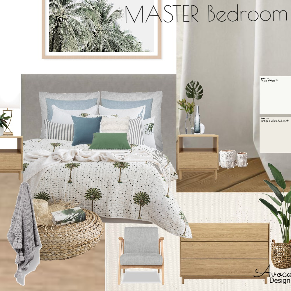 Master Bedroom Interior Design Mood Board by Avoca Design on Style Sourcebook