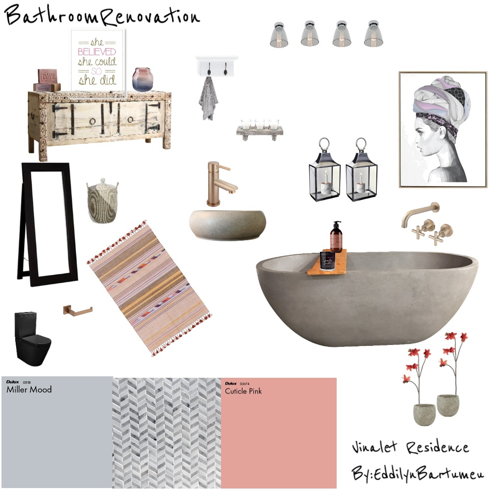 Vinalet Residence - Bathroom Mood Board Interior Design Mood Board by Infinity Design on Style Sourcebook