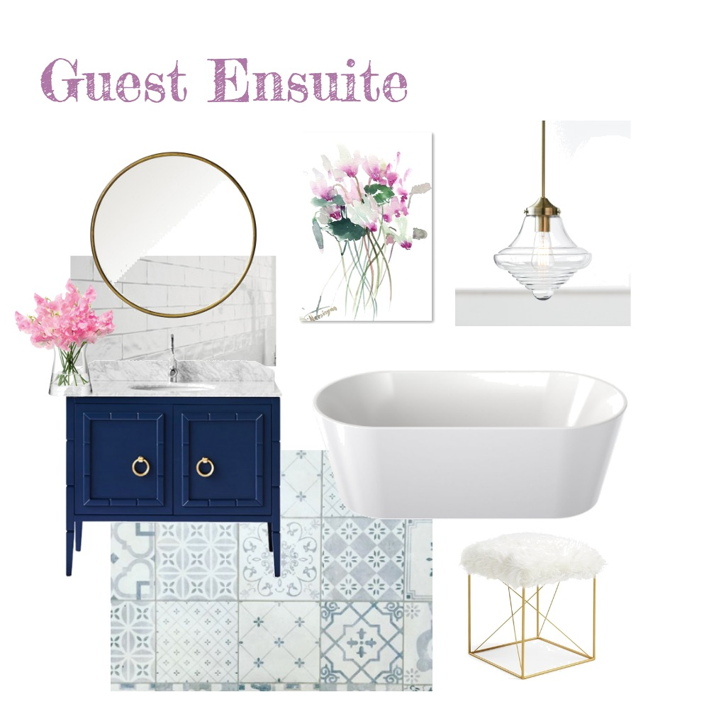 Guest Ensuite (Navy) Interior Design Mood Board by aphraell on Style Sourcebook