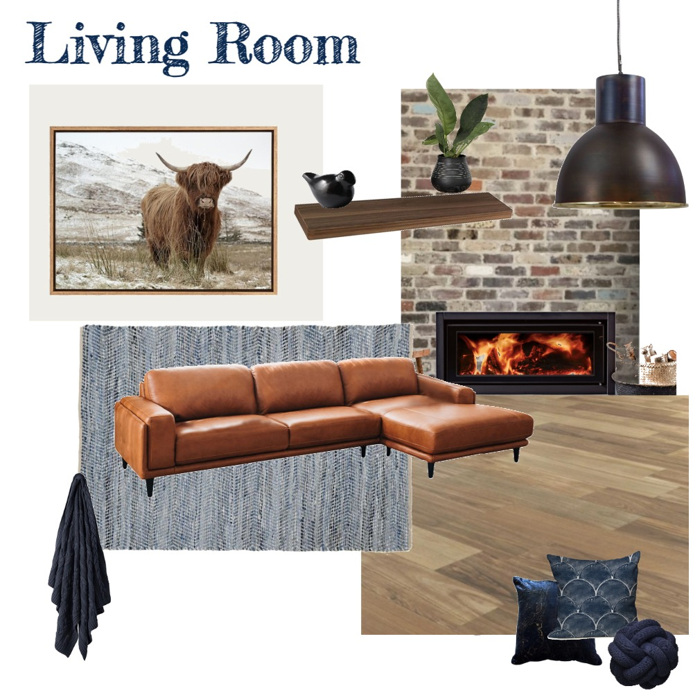 Living Room (Navy) Interior Design Mood Board by aphraell on Style Sourcebook