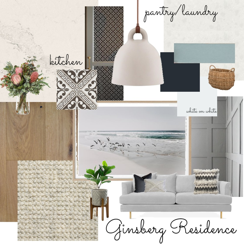 Ginsberg Residence - Kitchen/Living Interior Design Mood Board by natashad on Style Sourcebook