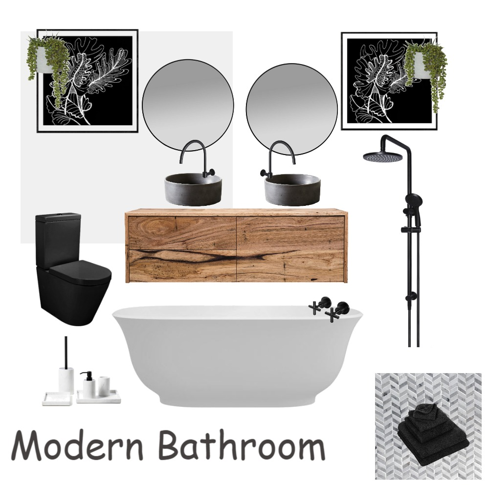 Modern Bathroom Interior Design Mood Board by lovettdesigns on Style Sourcebook