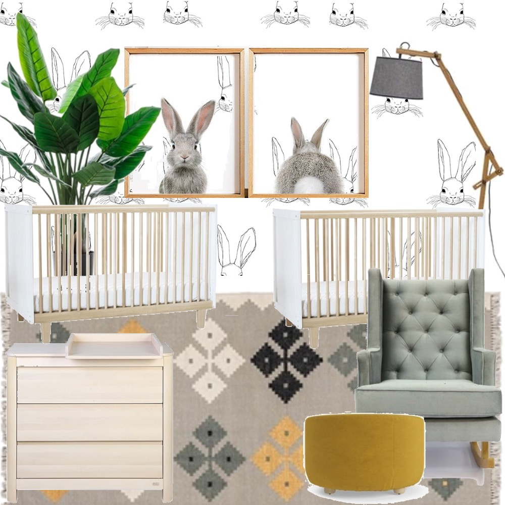 Twins nursery Interior Design Mood Board by Curation on Style Sourcebook