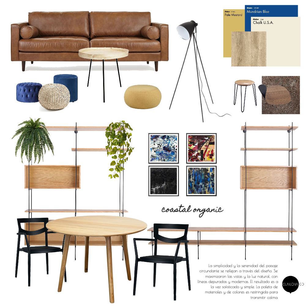 coaster organic Interior Design Mood Board by ClaudiaGD on Style Sourcebook