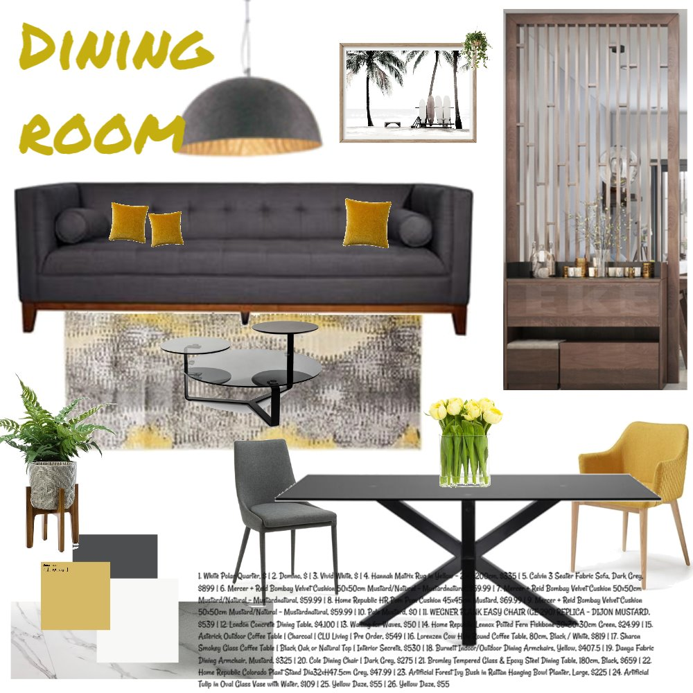 dining room Interior Design Mood Board by Basya101 on Style Sourcebook