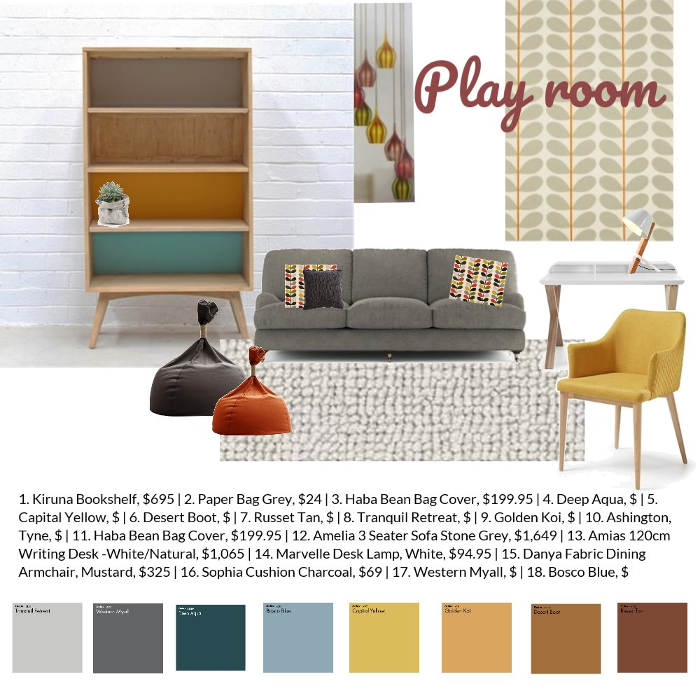 playroom Interior Design Mood Board by sheindy1 on Style Sourcebook