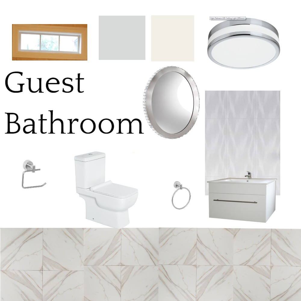 Guest Bathroom Interior Design Mood Board By Tickie Style Sourcebook